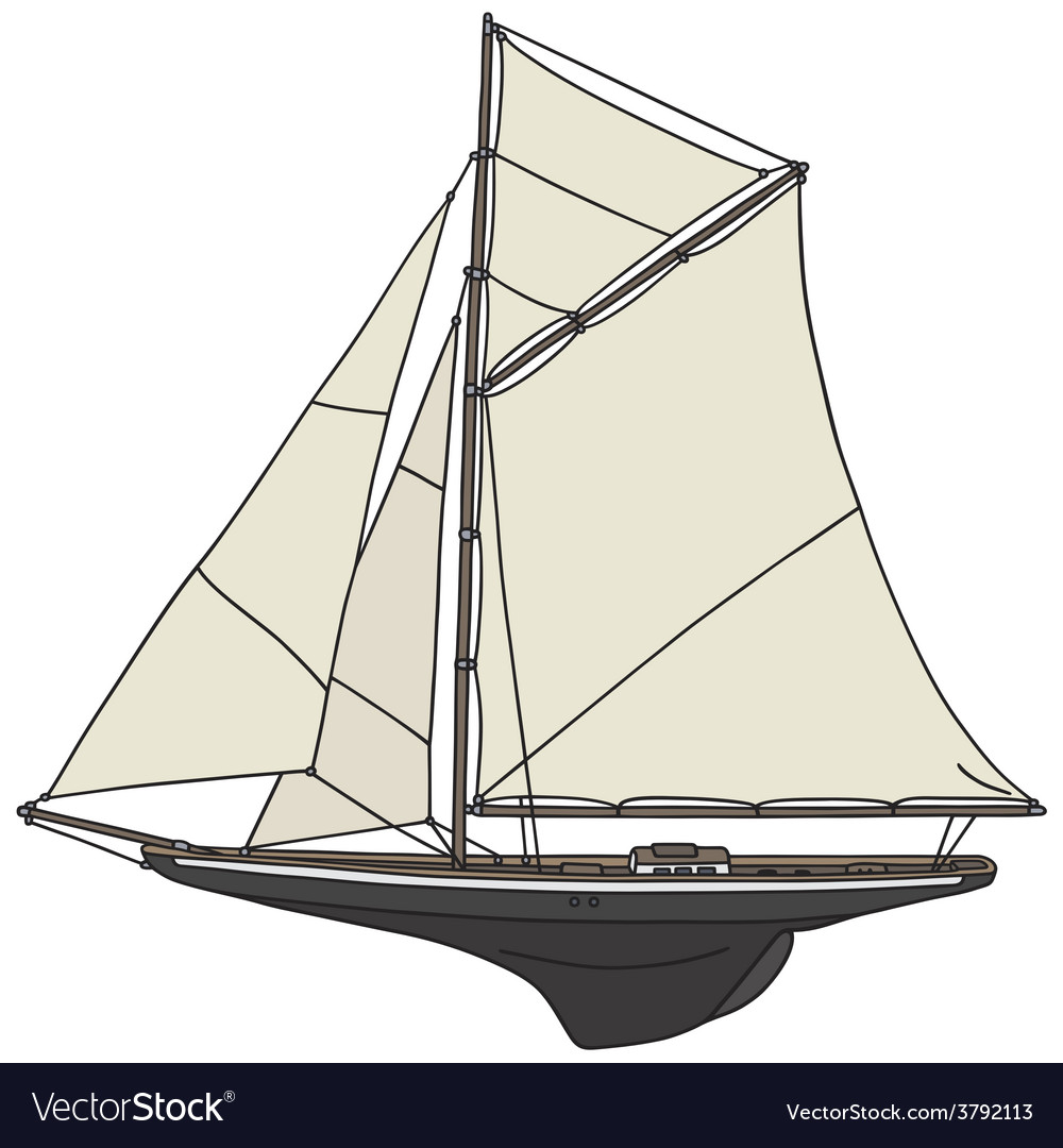 Classic yacht vector image