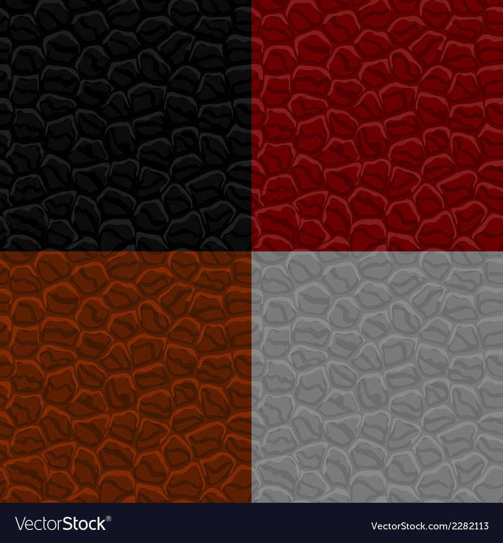 Seamless leather texture vector image