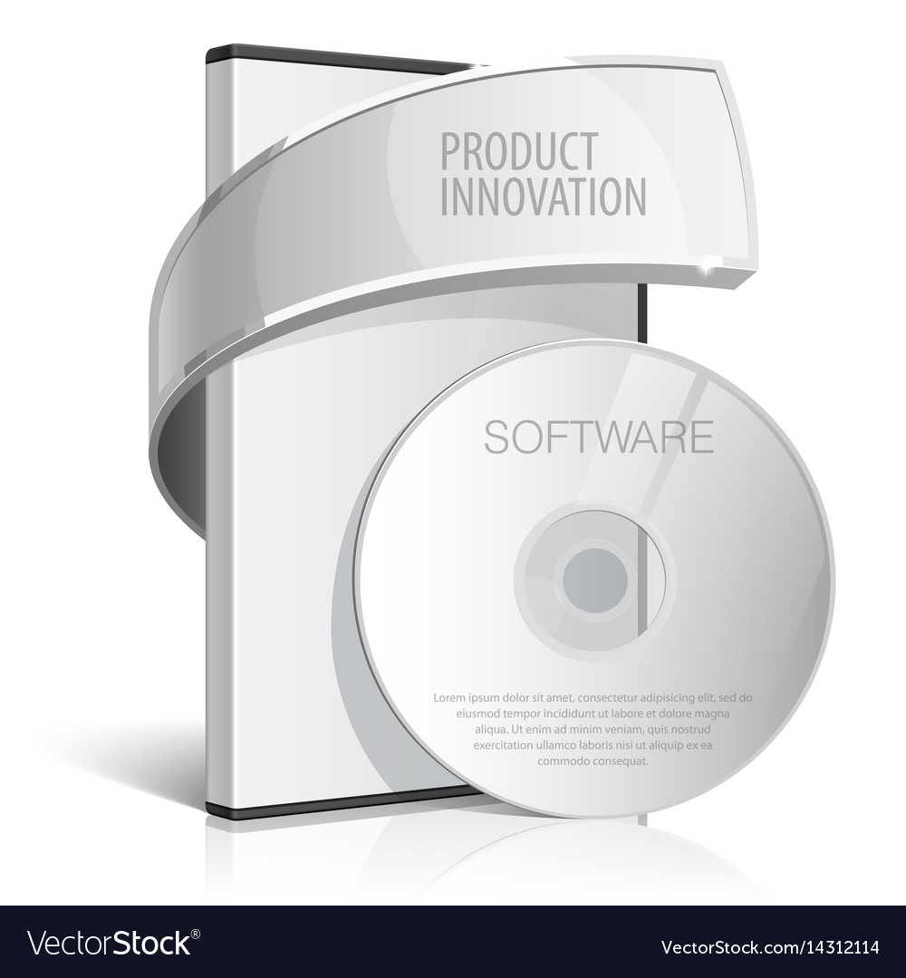 Realistic case for dvd or cd disk vector image