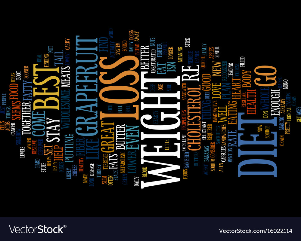 Best weight loss diet text background word cloud vector image