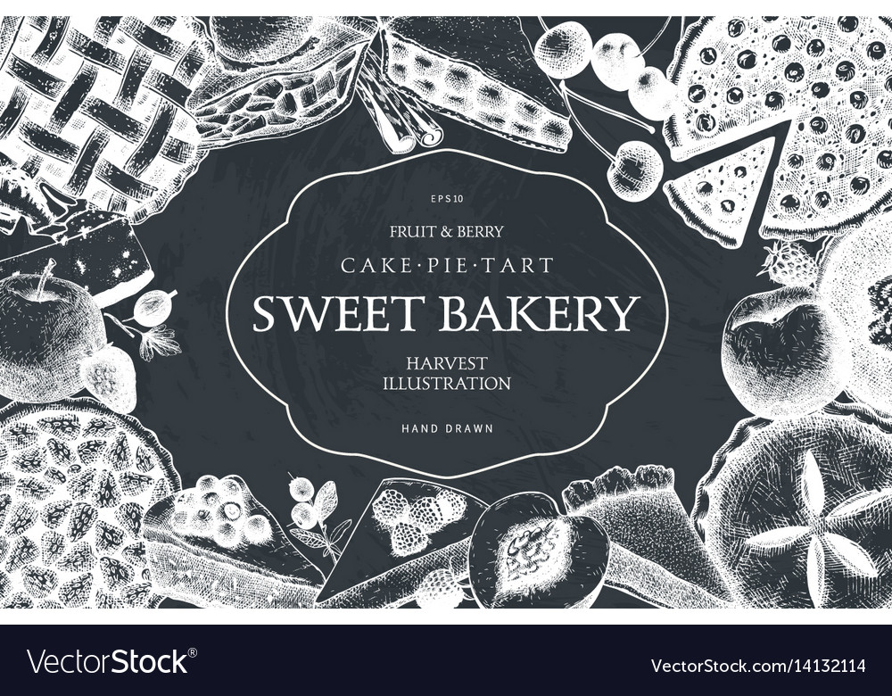 Card design with vinatge baking vector image