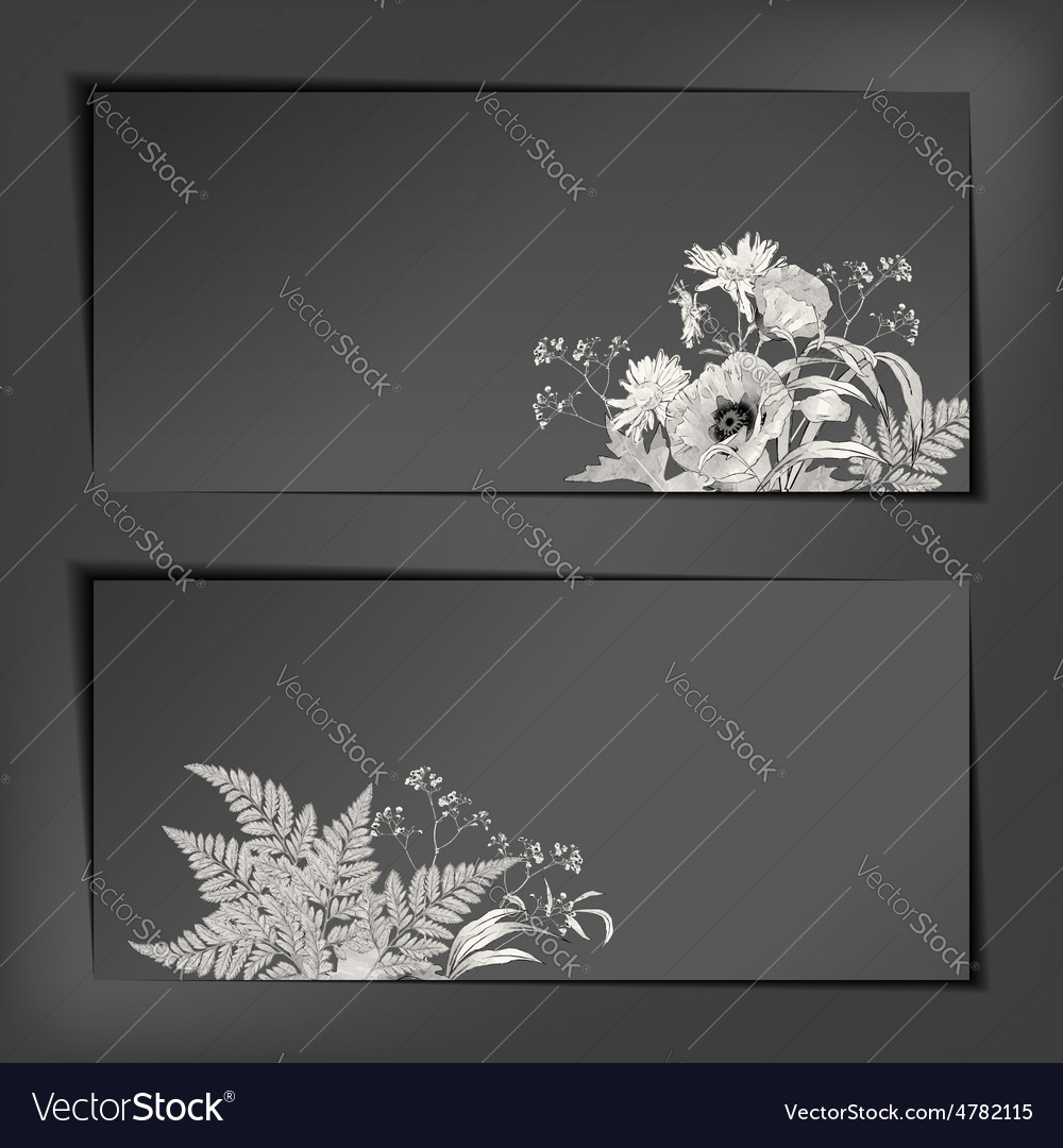 Floral Sketch Banners vector image