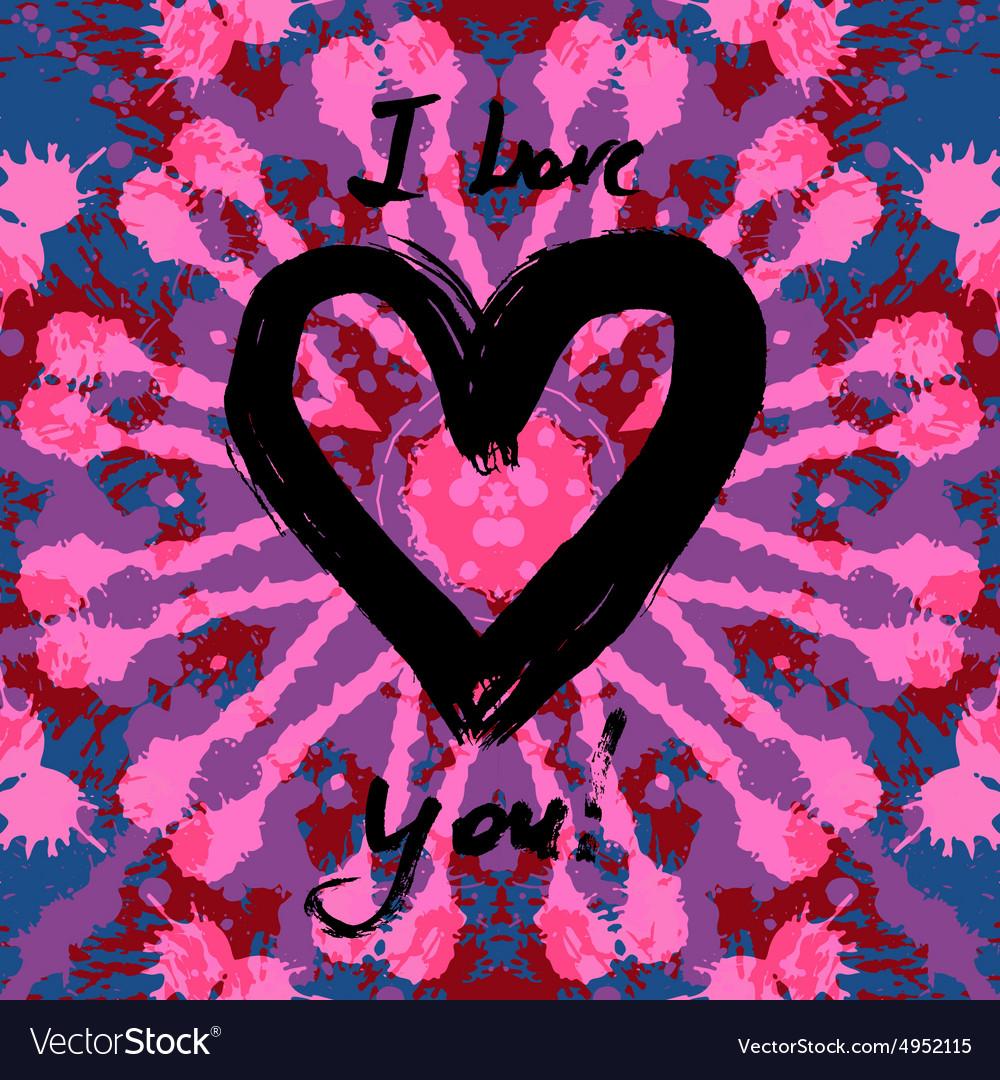 Grunge valentine card vector image