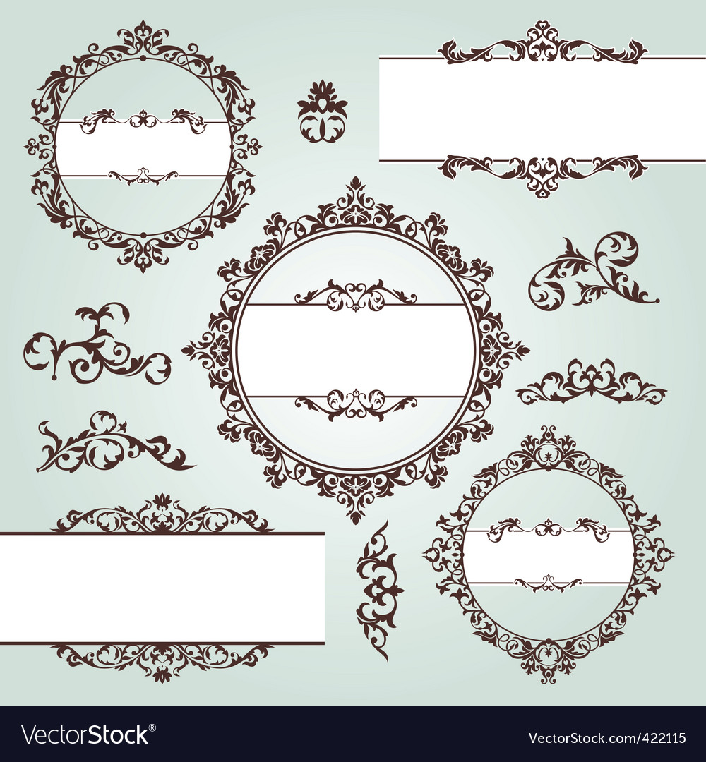 Vintage design elements vector image
