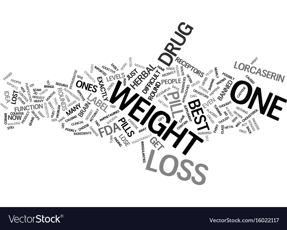 Best weight loss pills text background word cloud vector image