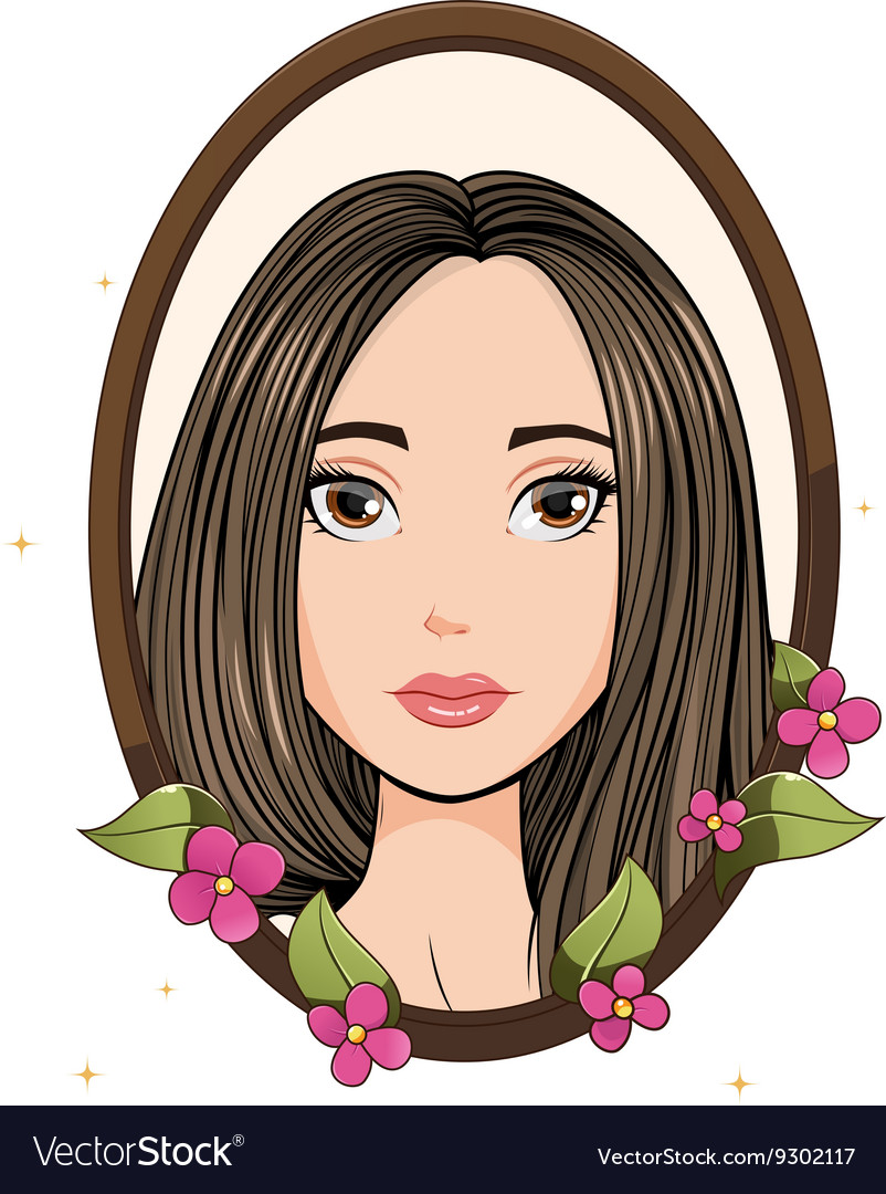 Invitation with pretty young girl vector image