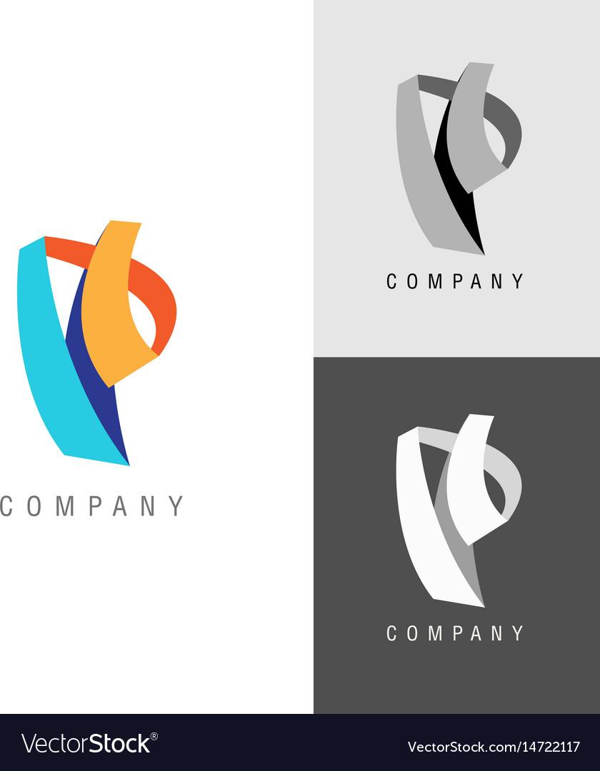 Logo design element letter symbol p royalty free vector logo design element letter symbol p vector image biocorpaavc
