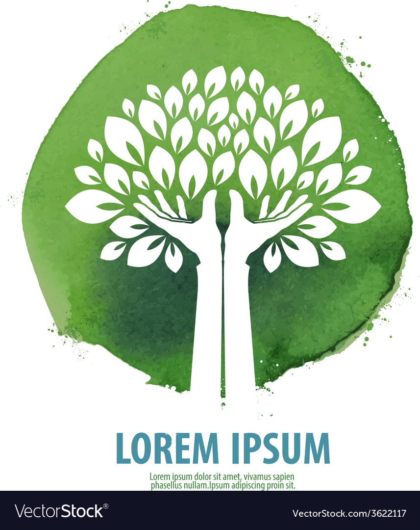 Tree logo icon sign emblem template vector image