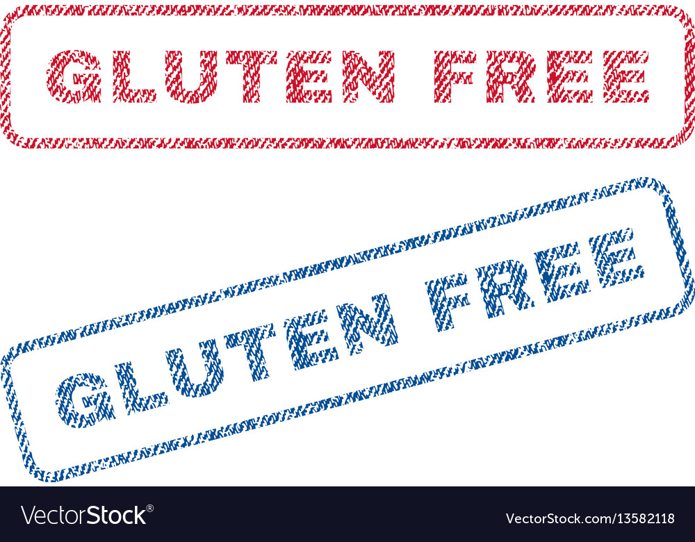 Gluten free textile stamps vector image