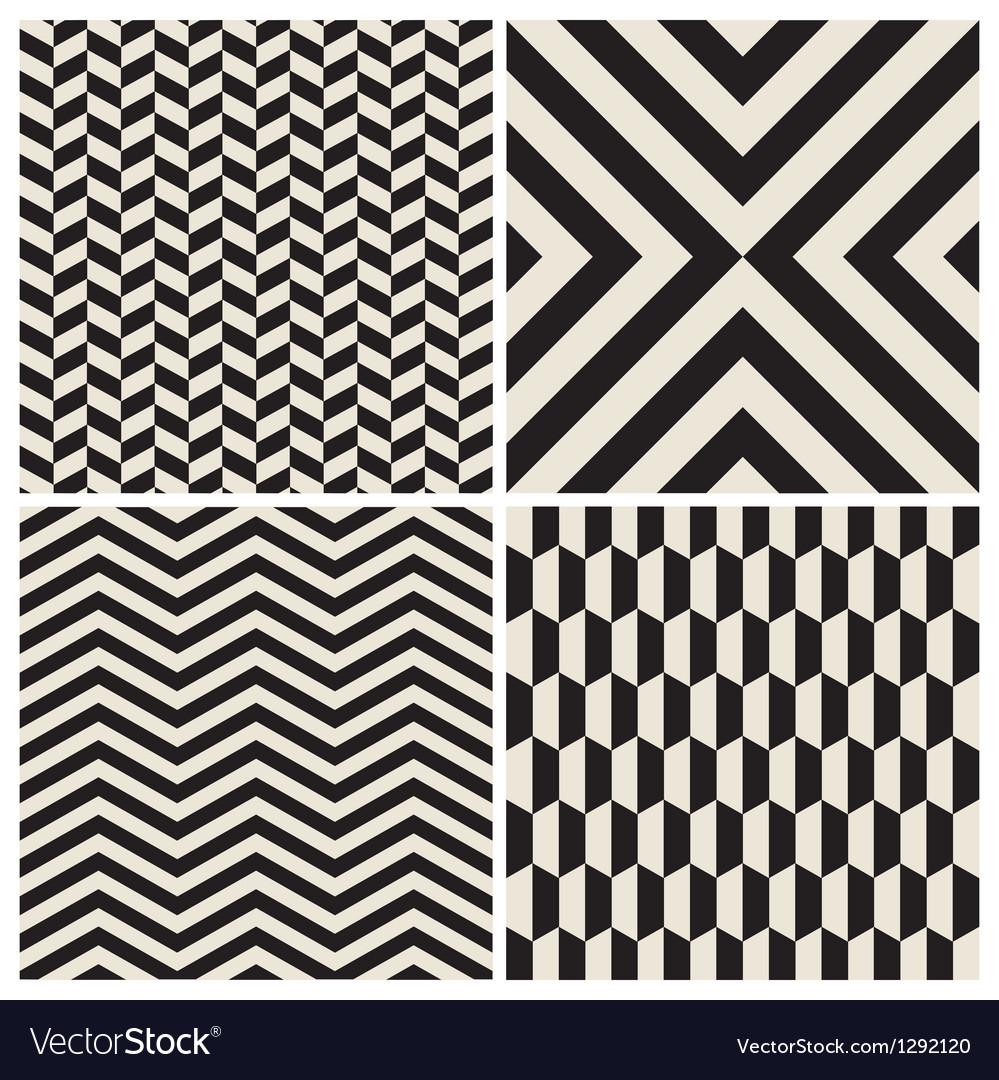 Pattern background set retro vintage design vector image