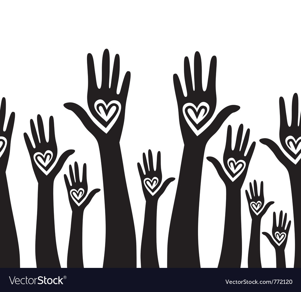 People support hand vector image