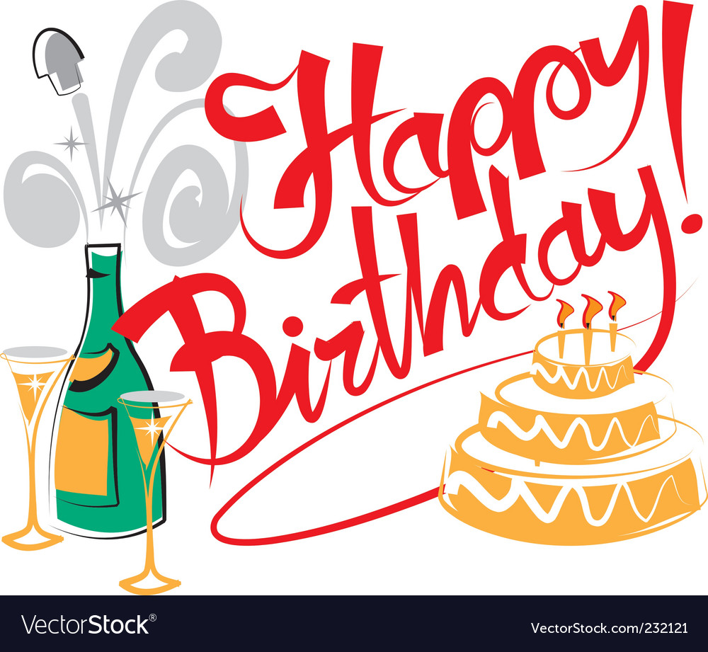 Happy birthday Royalty Free Vector Image - VectorStock