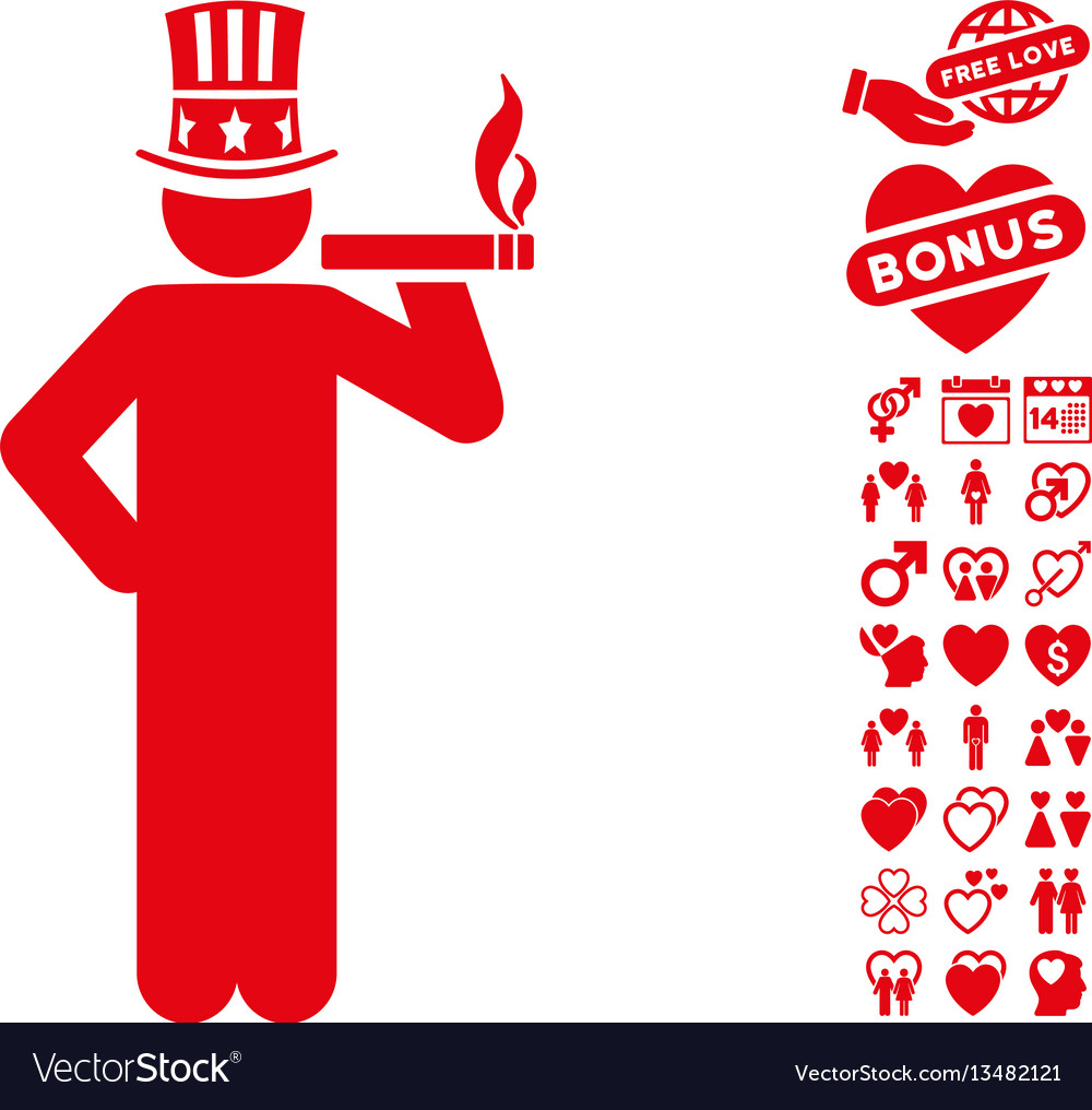 Capitalist icon with dating bonus vector image