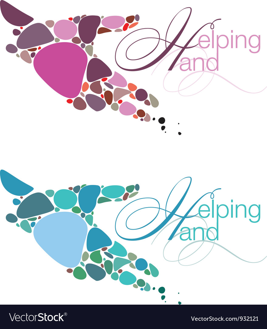 Helping Hand Emblems vector image