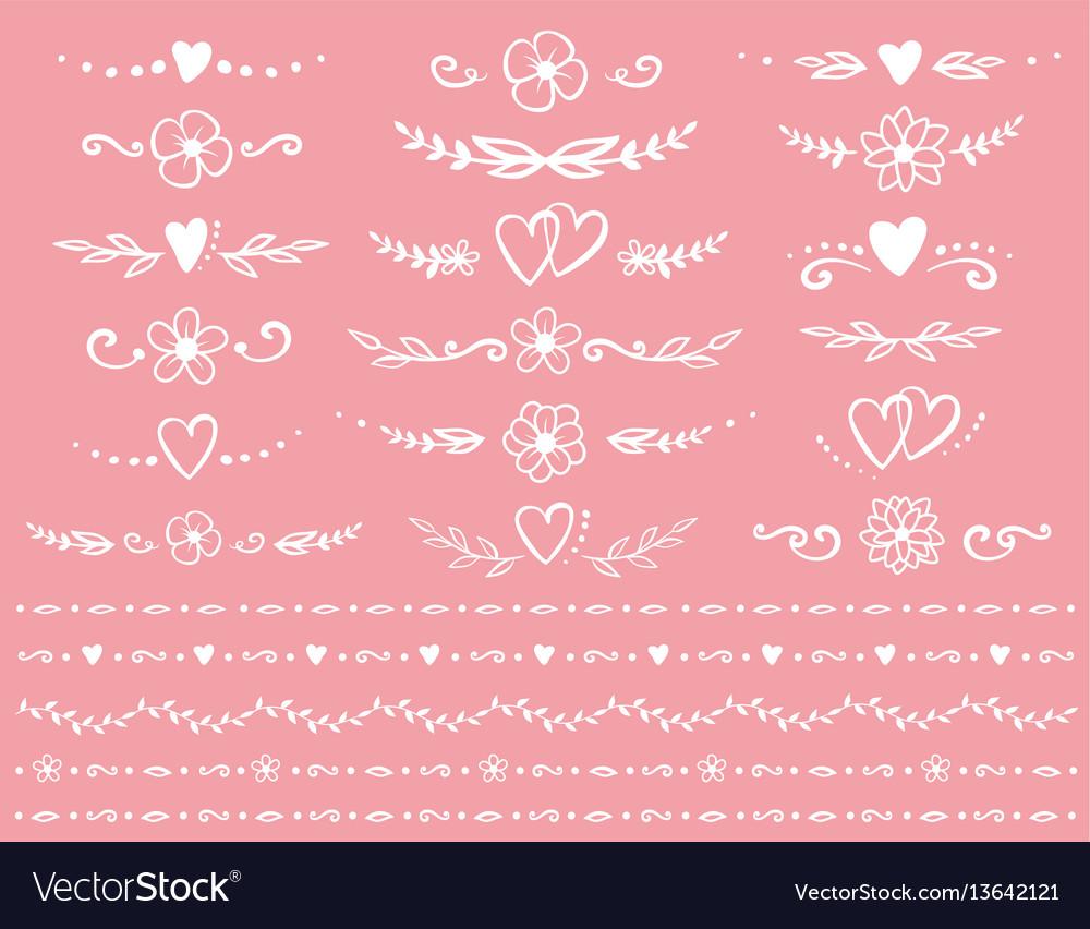 Romantic dividers set vector image