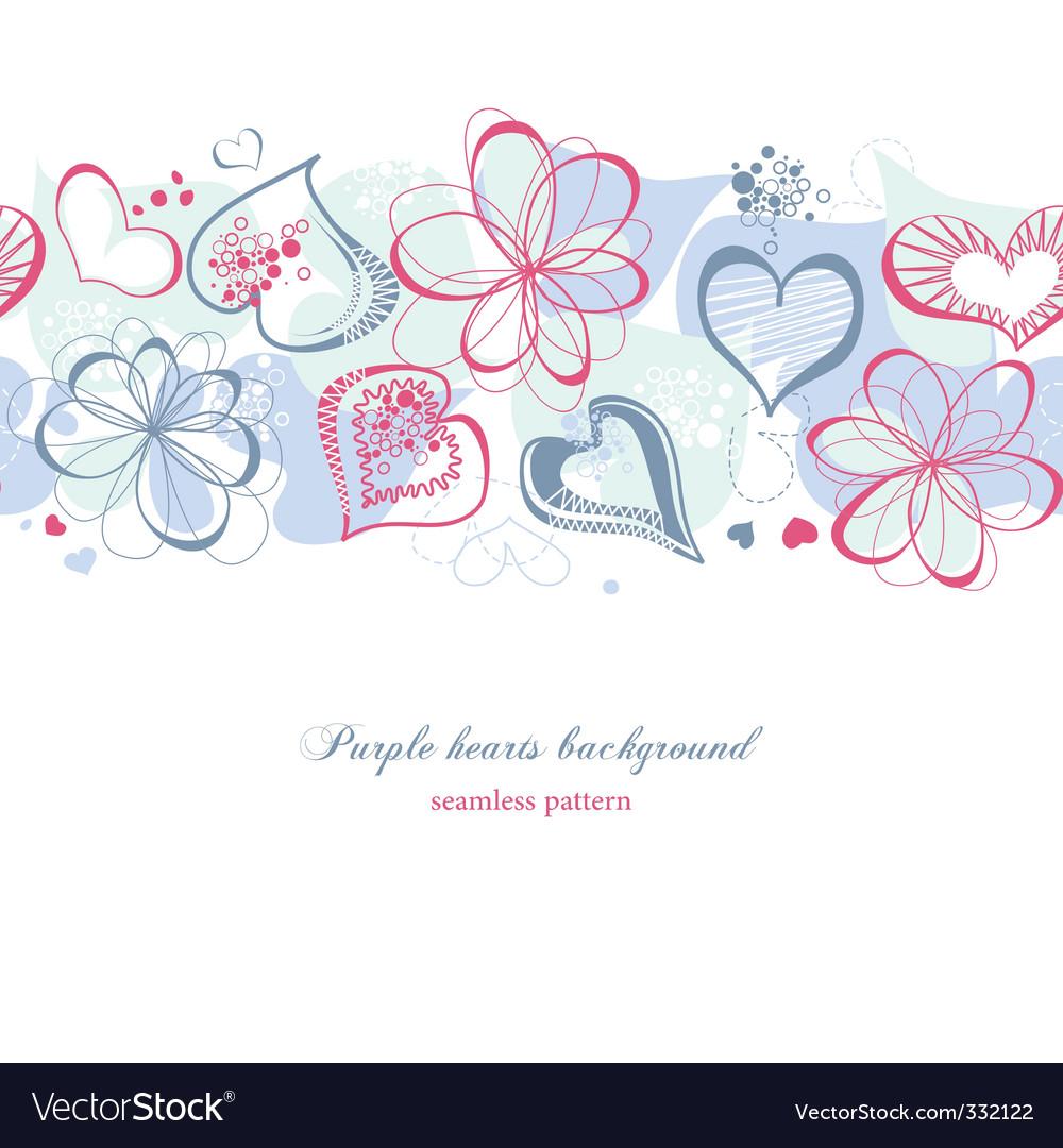 Purple hearts vector image