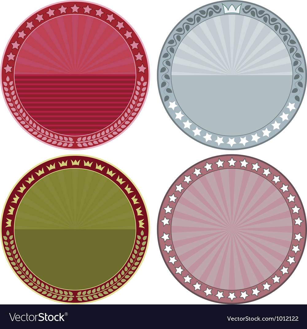 Round background vector image