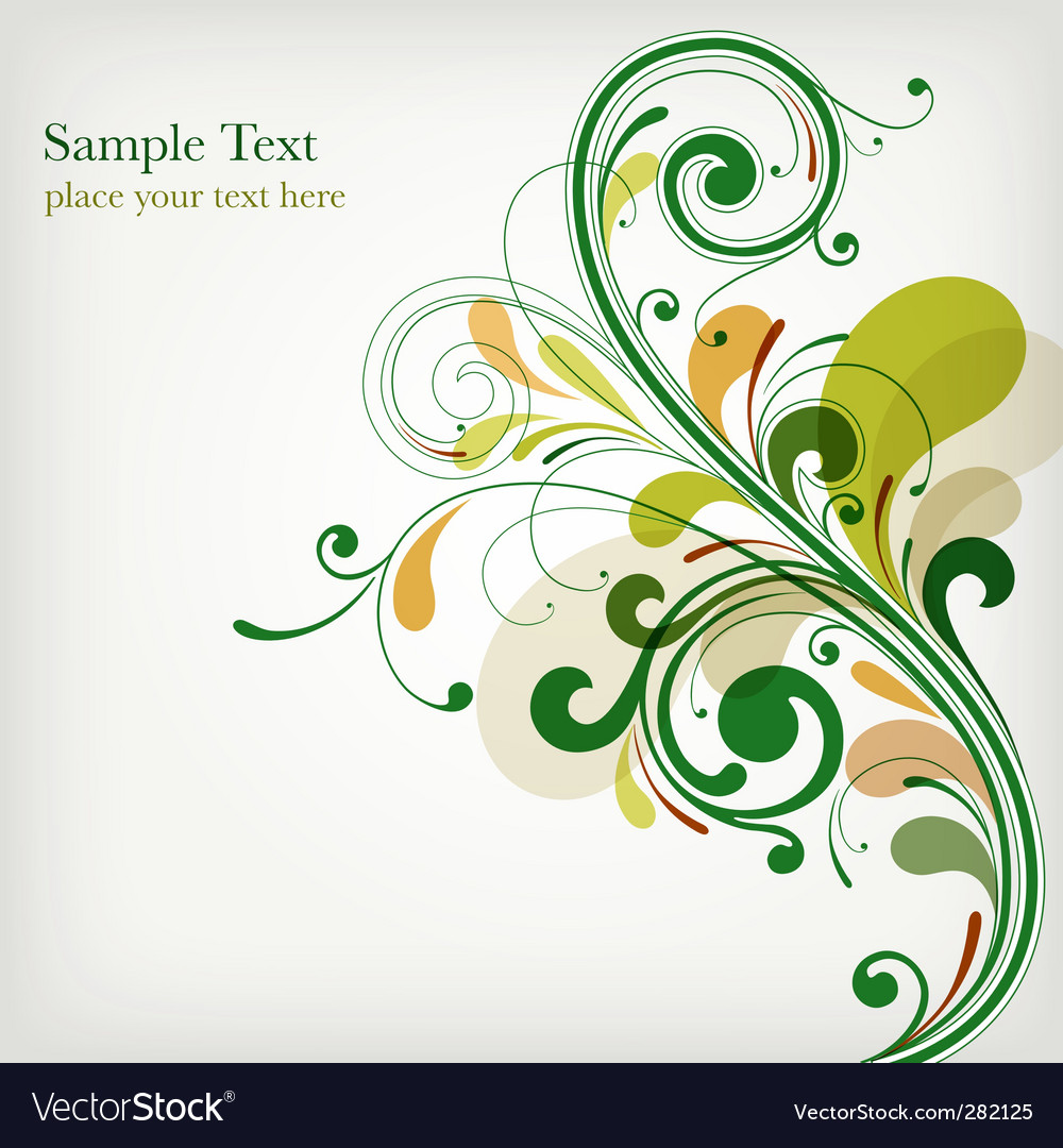 Green floral design vector graphic free vector graphics all free - Floral Design Vector Image