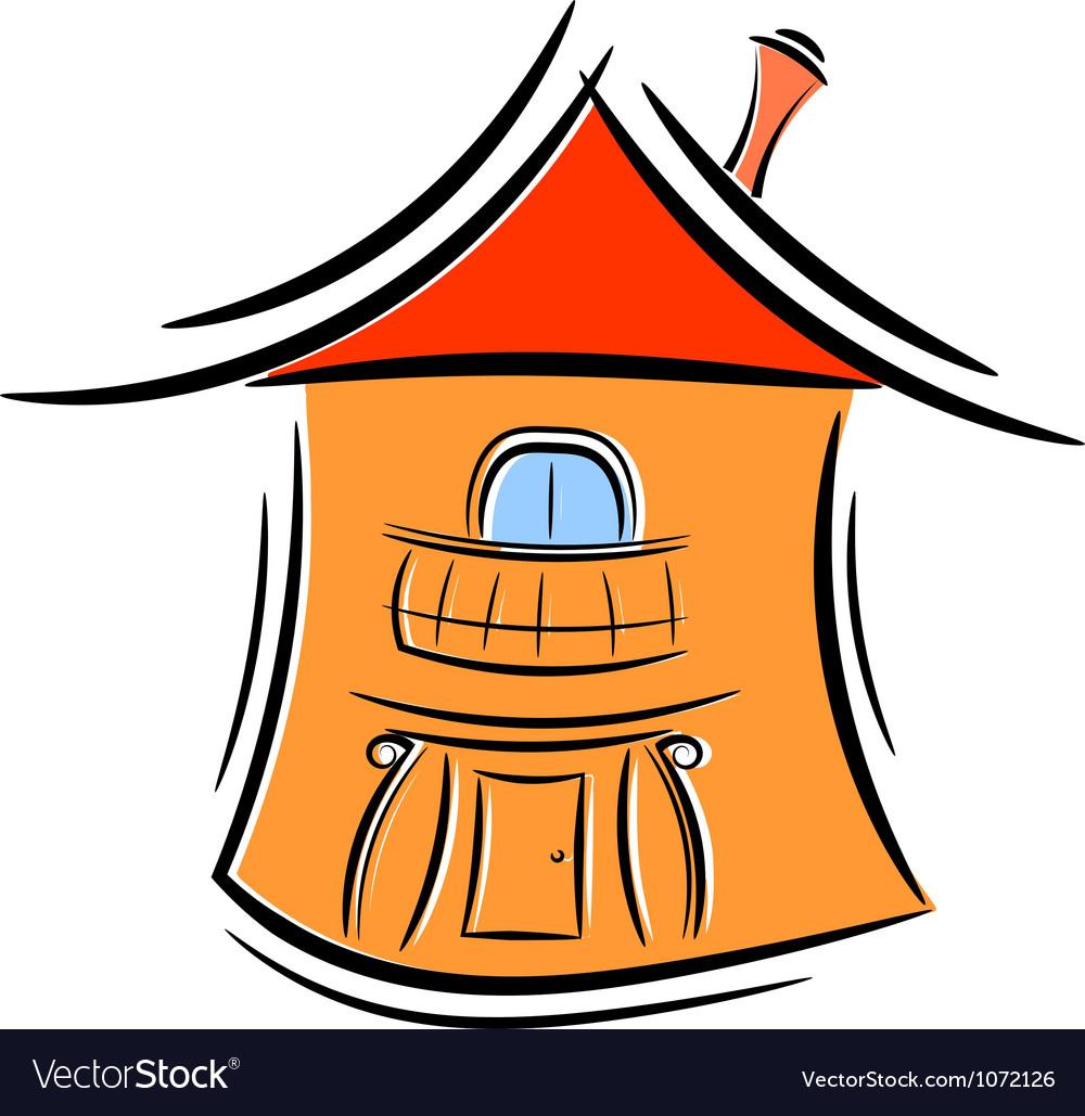 Cartoon little house eps10 vector image