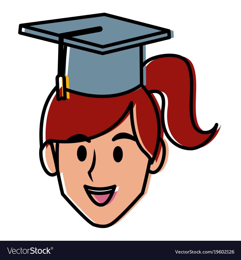 student woman with graduation hat royalty free vector image