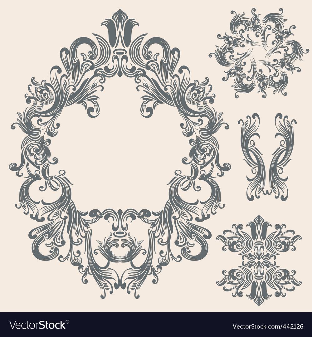 victorian frame design. victorian frame vector image design r
