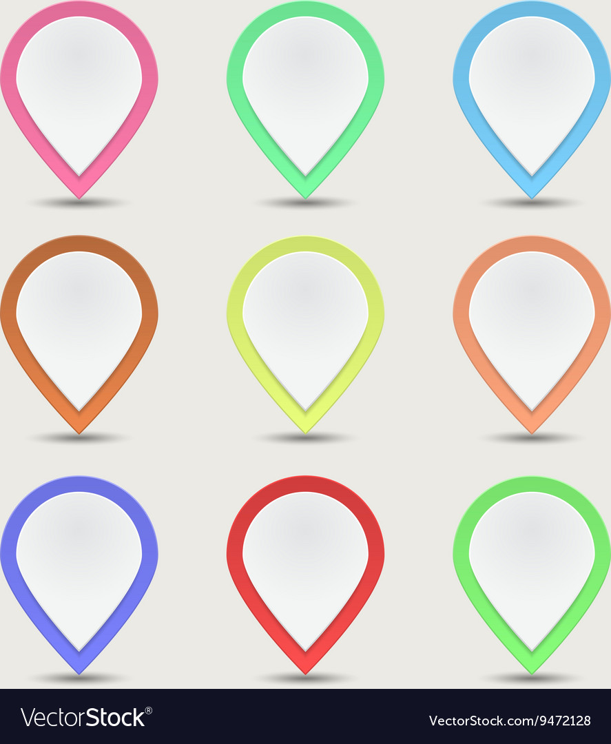 Set color labels vector image