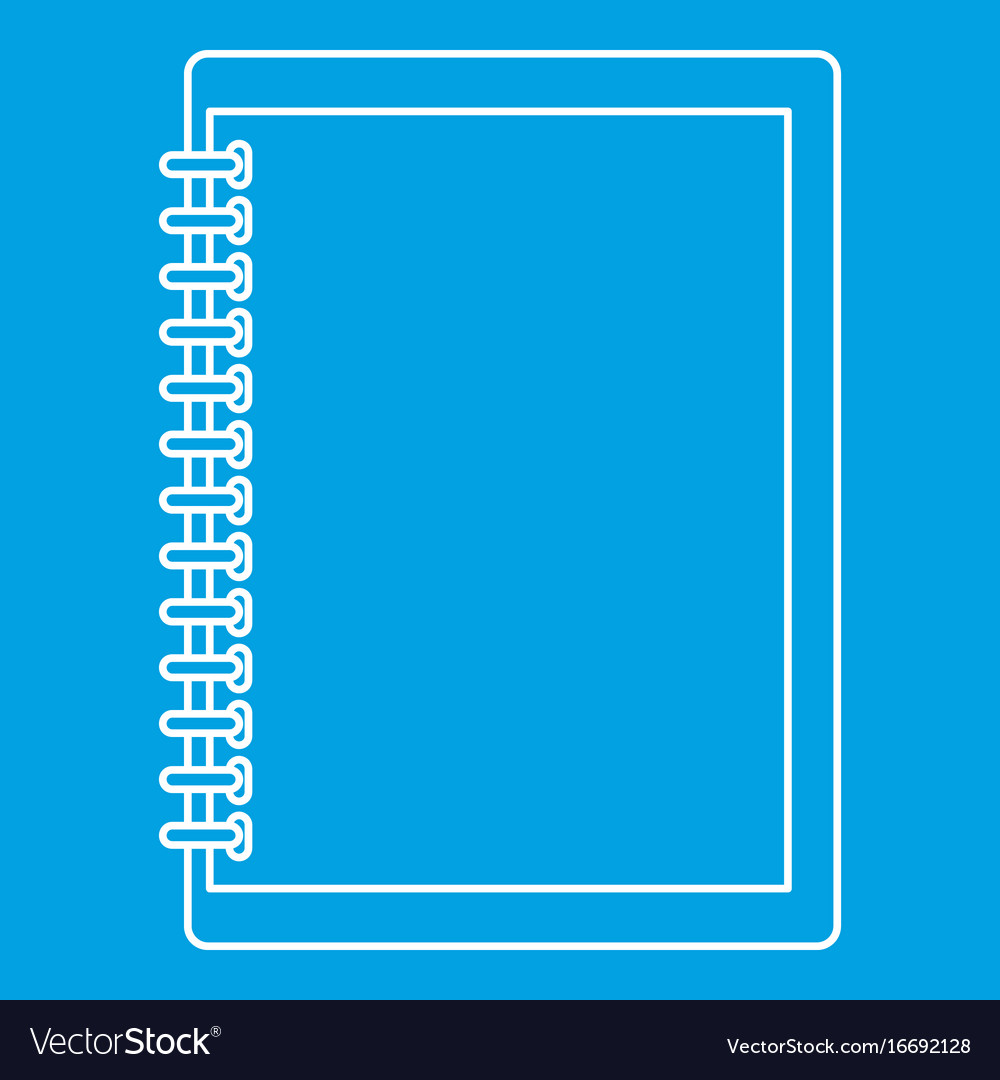 Sketchbook icon outline style vector image