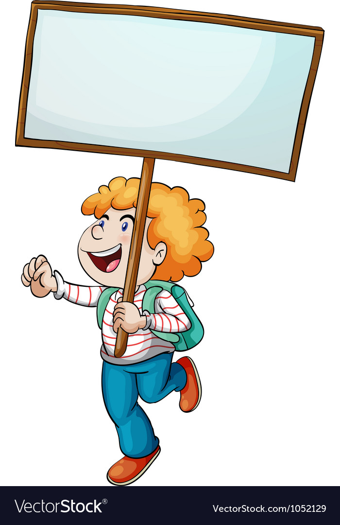 Banner boy vector image