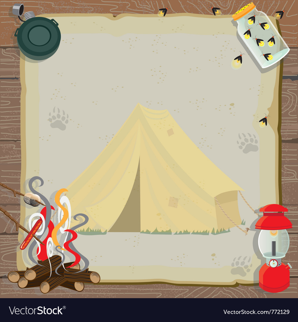 Rustic camping party vector image