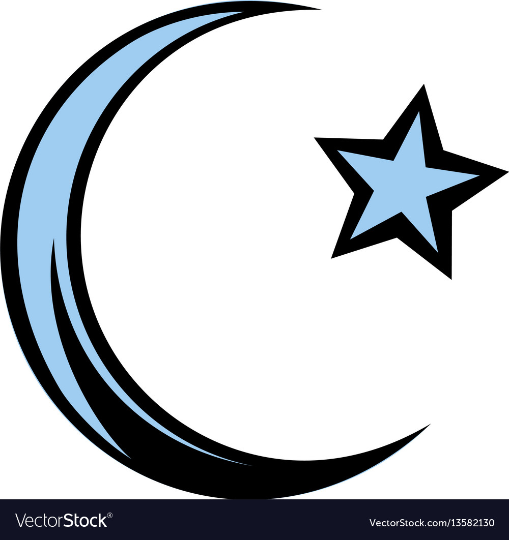 Heart as islam symbol of love to muslim allah vector image muslim symbol icon cartoon vector image biocorpaavc