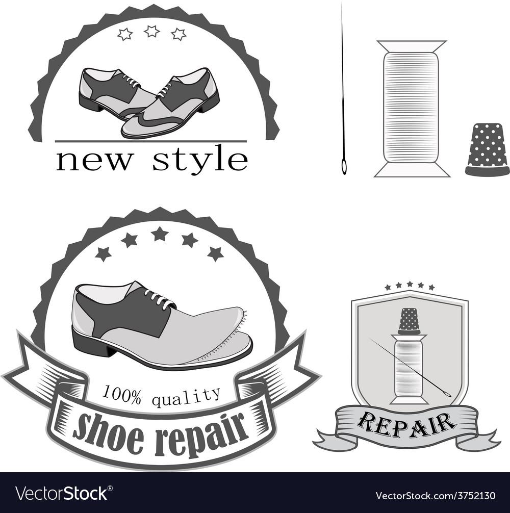 Shoe repair vector image