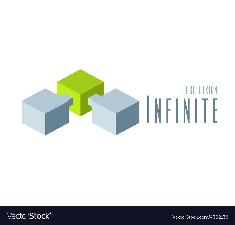 Techno Logo design template vector image