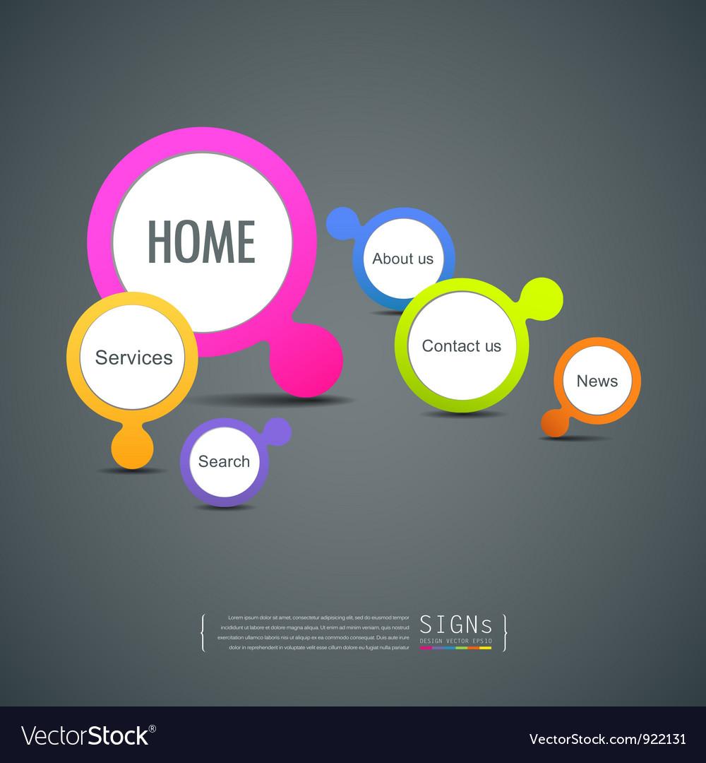 Signs website icon design vector image
