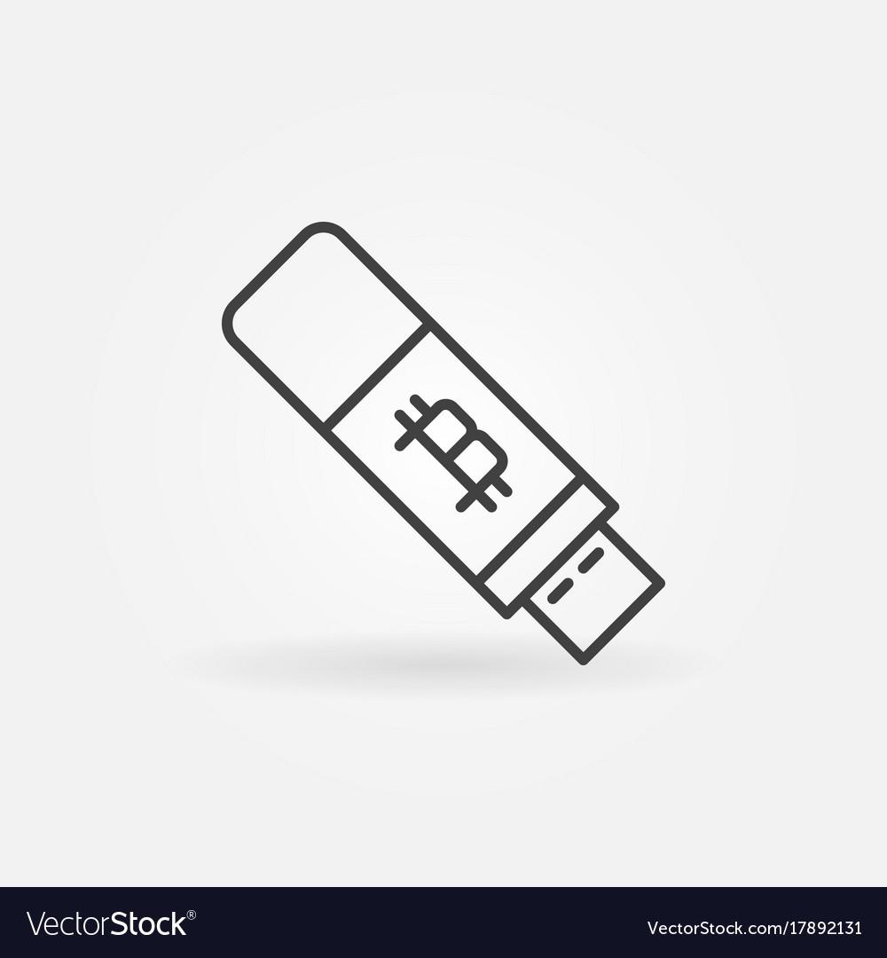 Bitcoin Usb Flash Icon