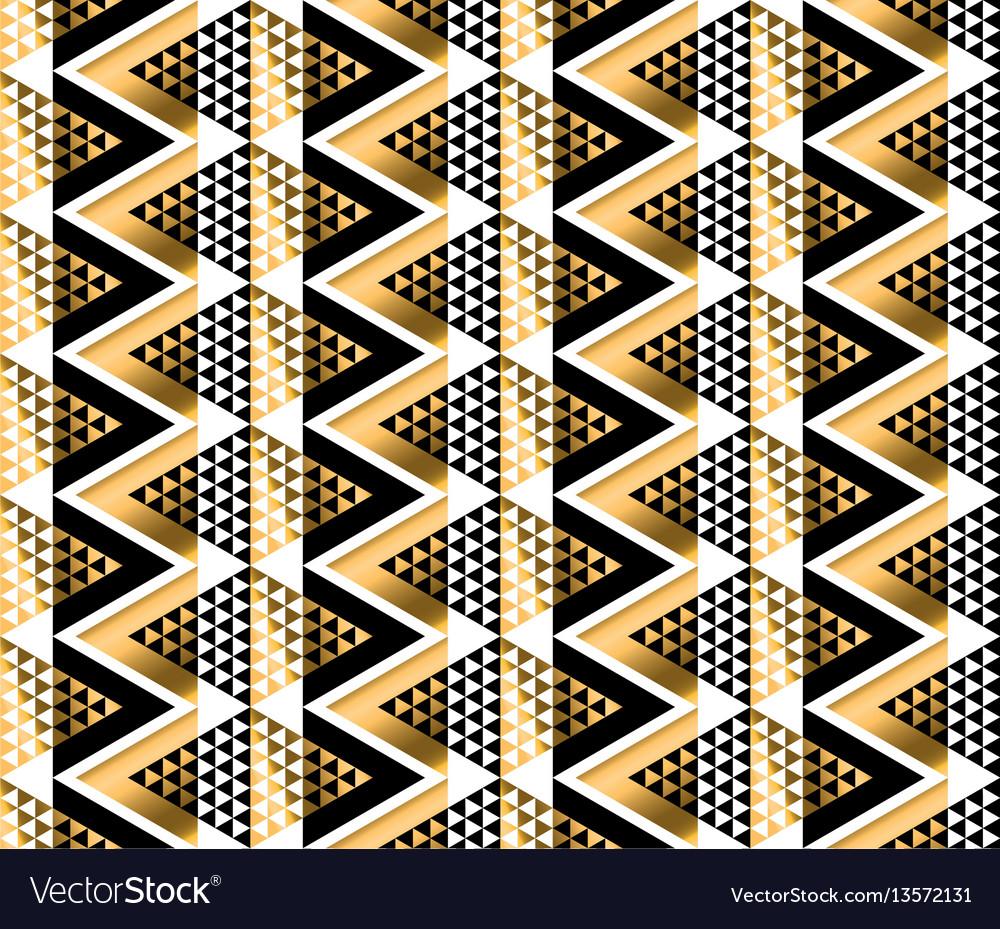 Modern geometry american indian tribal seamless vector image