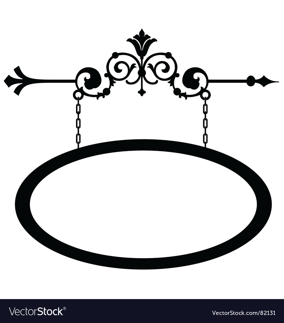 Wrought iron shop sign vector image