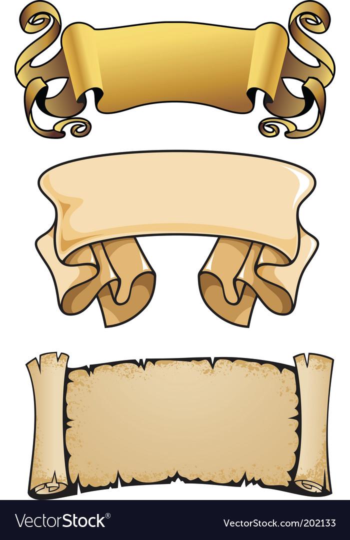 Scrolls vector image