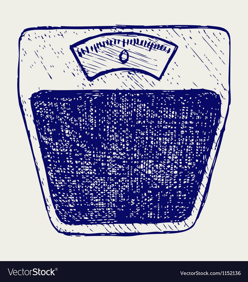Bathroom scale vector image