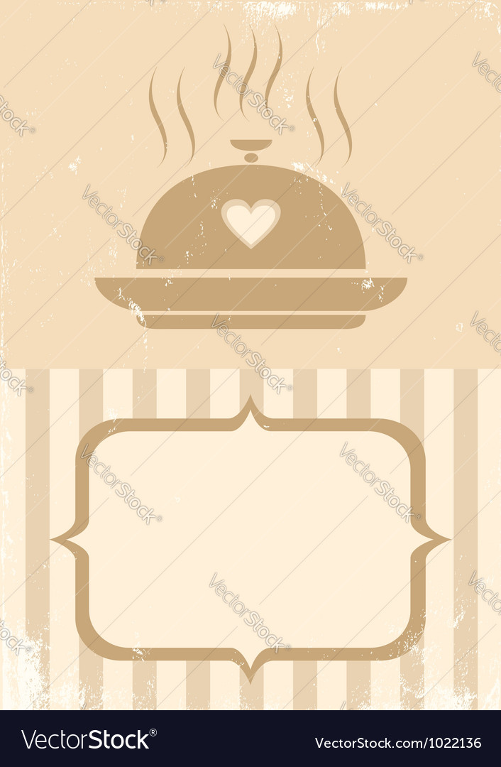 Food retro vector image