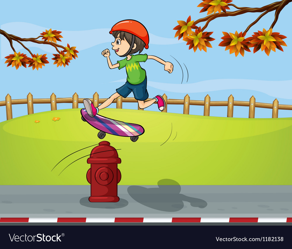 Cartoon Skater boy vector image