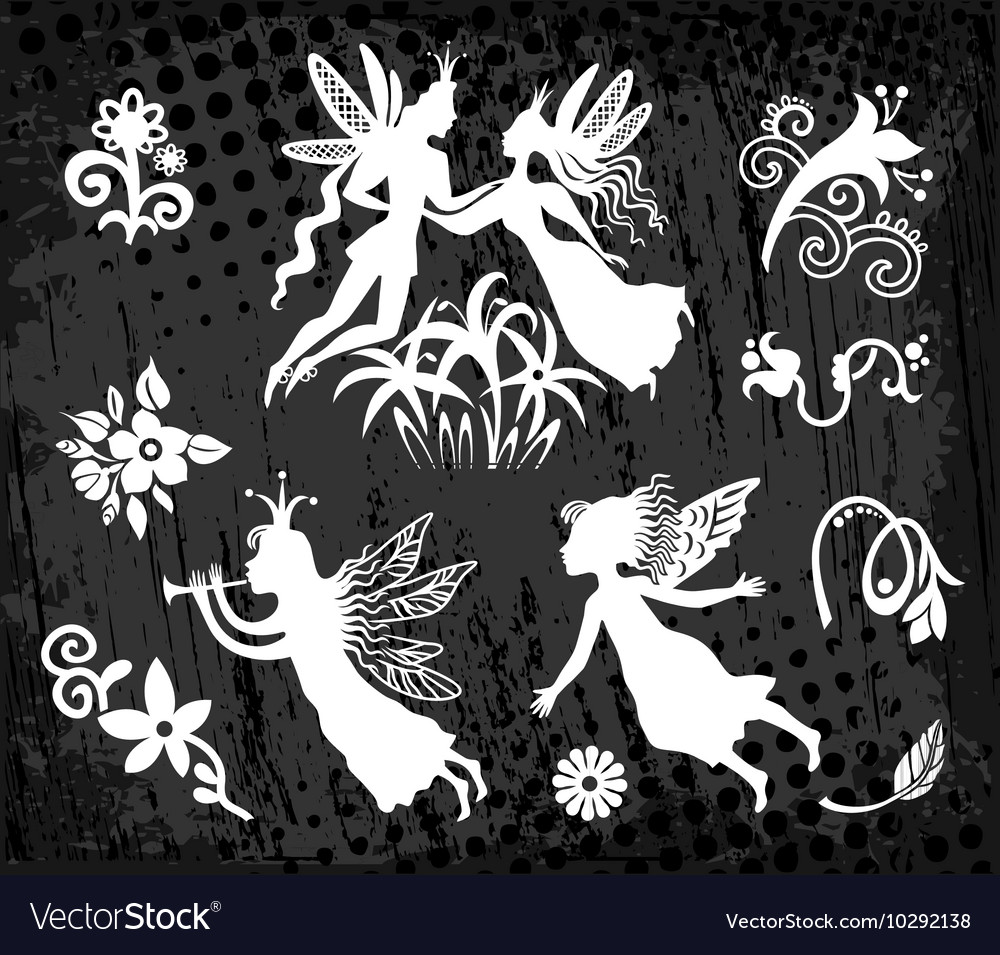 Princess prince and fairy vector image