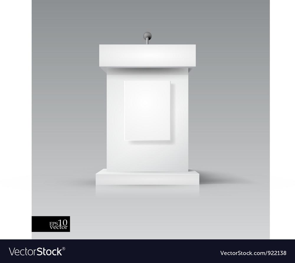 Rostrum-podium with microphone vector image