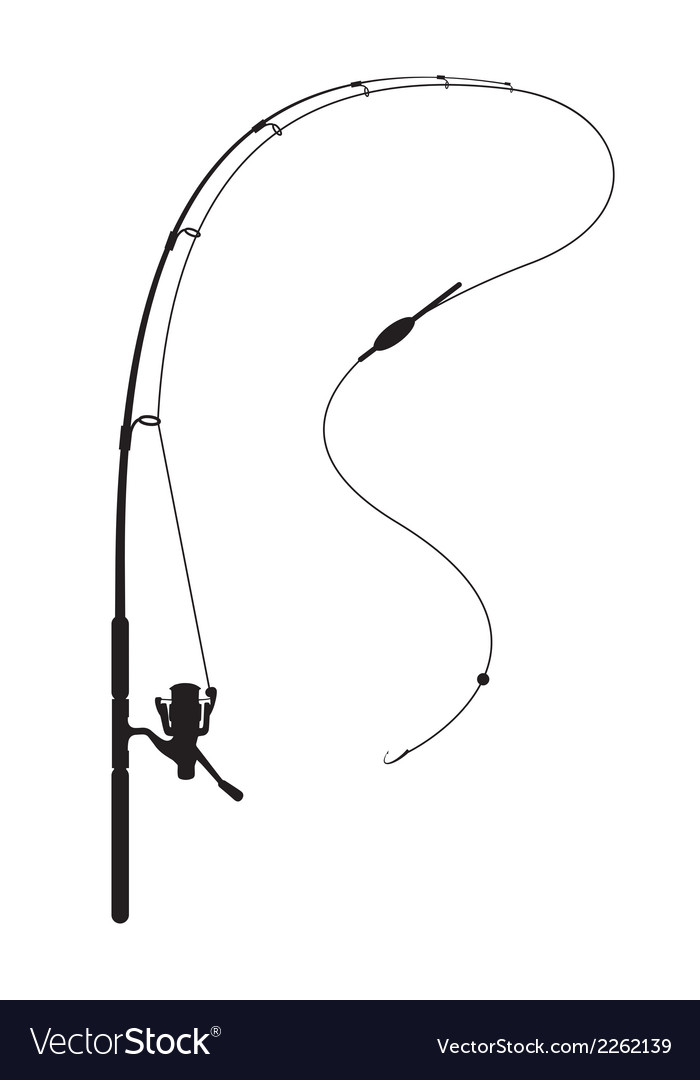 Fishing rod royalty free vector image vectorstock for Free line fishing