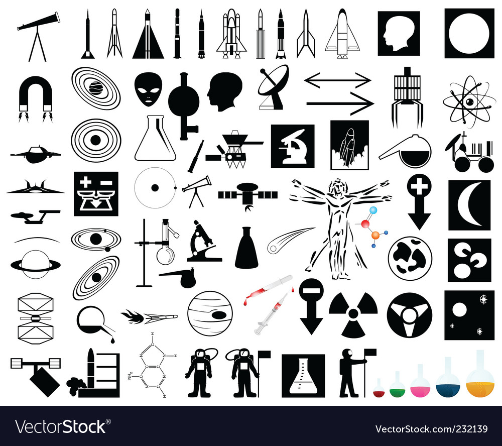 Science and space vector image
