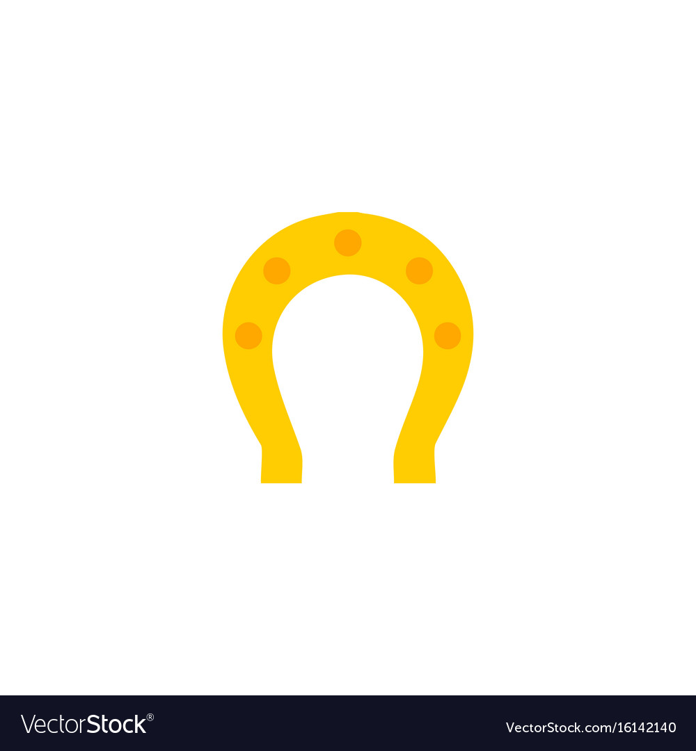Flat icon horseshoe element vector image