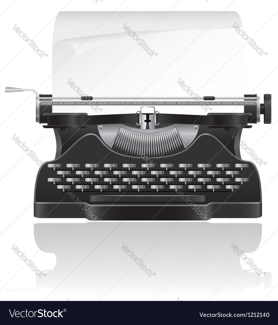 Old typewriter 02 vector image