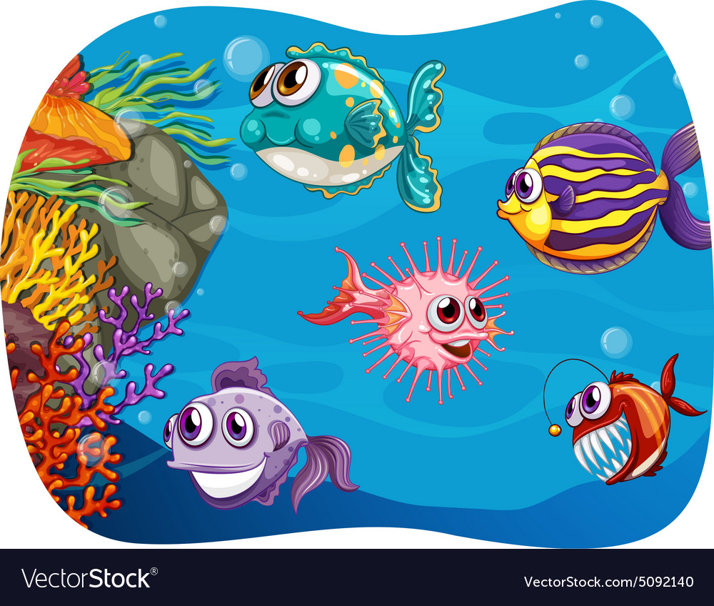 Sea monster vector image