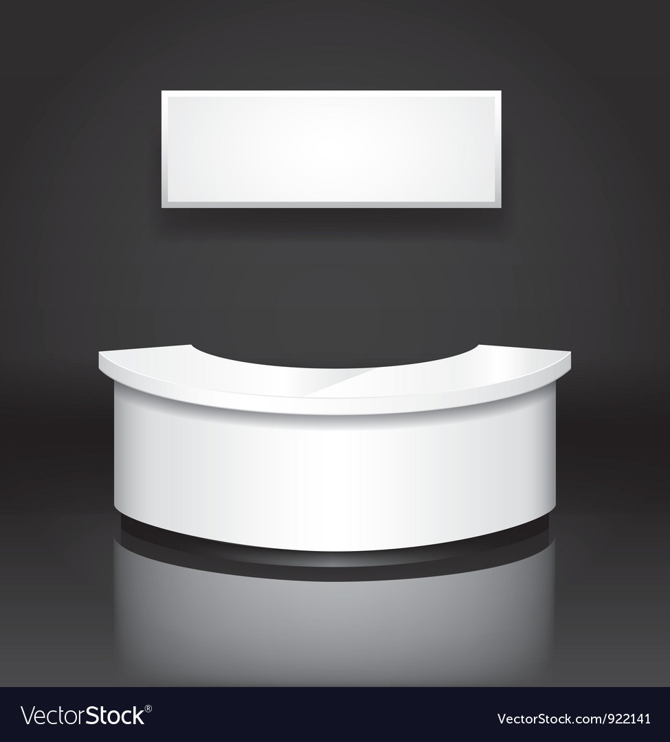 Reception counter vector image