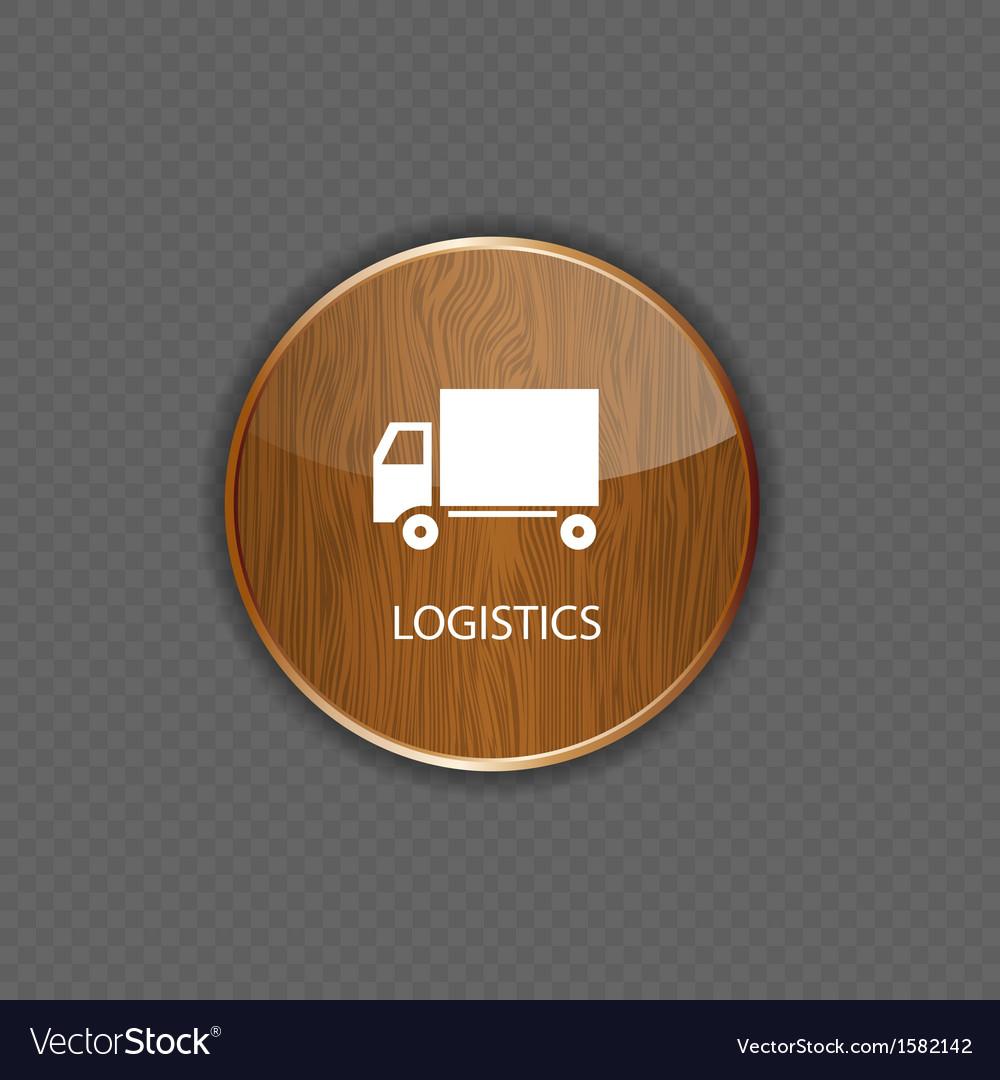 Logistics wood application icons vector image
