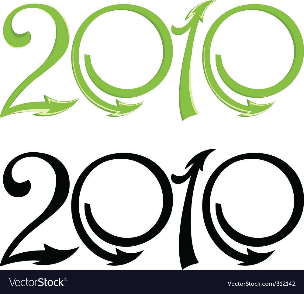 Greener 2010 vector image